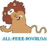 free vector Lion Goofy