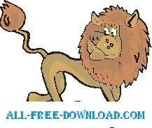free vector Lion Walking