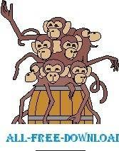 free vector Monkeys Barrel of