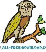 free vector Owl 25