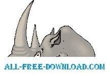 free vector Rhino Long Horn