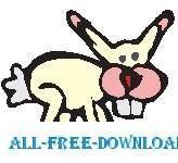free vector Rabbit Hopping 3