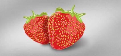 free vector Tasty Vector Strawberries