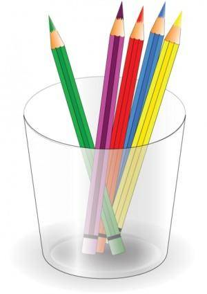 free vector Colored pencils