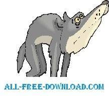free vector Wolf Scared