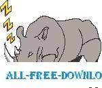 free vector Rhino Sleeping 1