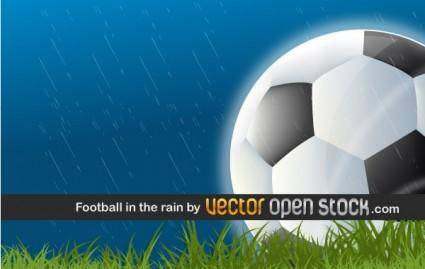 free vector Football in the Rain