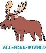free vector Moose Stuck in Pan