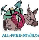 free vector Pack Mule