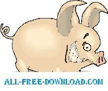 free vector Pig Grinning 2