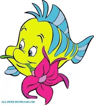 free vector Little Mermaid Flounder 002