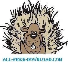 free vector Porcupine 5