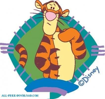 free vector Winnie the Pooh Tigg 041