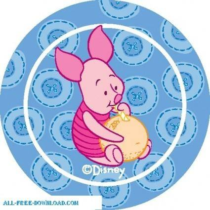 free vector Winnie the Pooh Piglet 020
