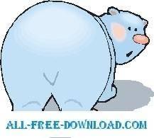 free vector Polar Bear Rear