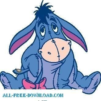 free vector Winnie the Pooh Eeyore 011