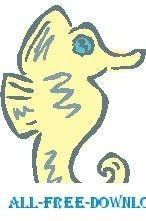 free vector Seahorse 2