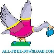 free vector Goose Flying South