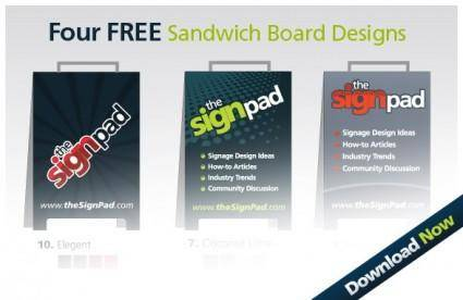 4 Free Sandwich Board Design Vectors