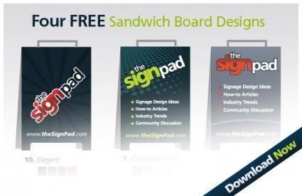 free vector 4 Free Sandwich Board Design Vectors