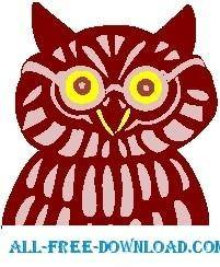 free vector Owl Wise