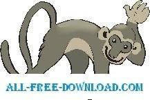 free vector Monkey Happy 1