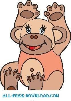 free vector Monkey 07