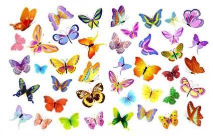 free vector Butterflies vector