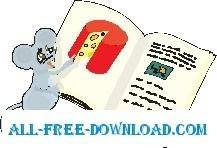 free vector Mouse with Cheese Book