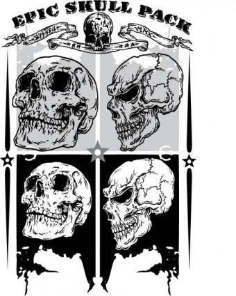 free vector Epic Skull Pack Samples