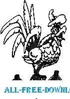 Rooster Crowing 3