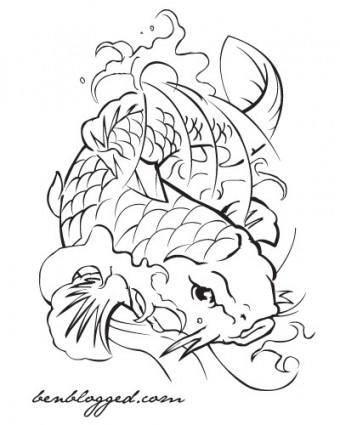 free vector Coi Fish - Tattoo