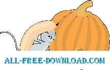 free vector Mouse with Sausage Link