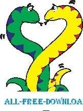 free vector Snakes in Love 2