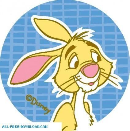 free vector Winnie the Pooh Rabbit 003