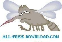 free vector Mosquito Sad