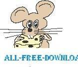 free vector Mouse and Cheese 02