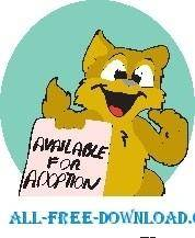free vector Pet Adoption Cat