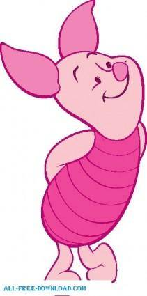 free vector Winnie the Pooh Piglet 005