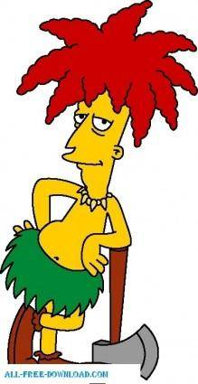 free vector Sideshow Bob 01 The Simpsons