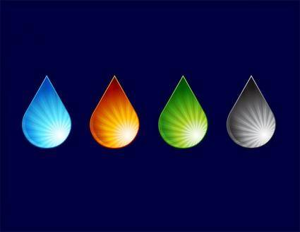 free vector Water drops