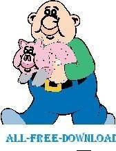 free vector Pig 25