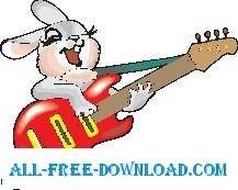 free vector Rabbit with Guitar