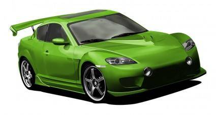 free vector Mazda RX8 - meshing it up