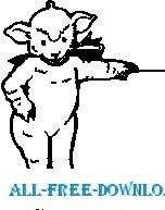 free vector Lamb Standing