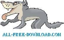 free vector Wolf Hungry