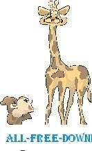 free vector Monkey with Giraffe