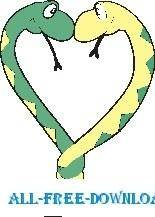 free vector Snakes in Love 1
