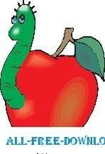free vector Worm in Apple 2