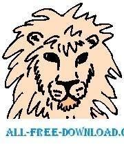 free vector Lion 12